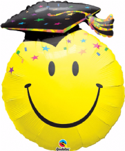 Smiley Face Grad Large Foil Balloon 1pc